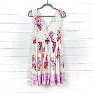 free people garden party sleeveless floral dress M